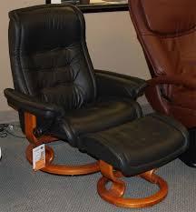 stressless royal medium paloma black leather recliner chair