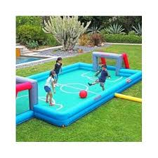 kids outdoor soccer field futbol inflatable game goal walls