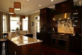 Kitchen Cabinet Solid Surface Creative Kitchen Dark Cabinets Light Granite For Solid Surface