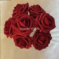 Bulk Wedding Flowers Aliexpress Com Buy Dark Red Artificial Wedding Flowers Bridal