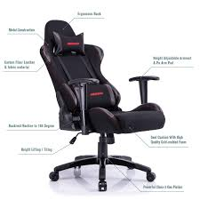 Recliner  Amazon Aminiture Big And Tall Gaming Chair Red High Back