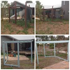 after your dog dies kennel pen to pergola conversion