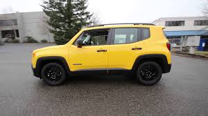 yellow jeep 2015 jeep renegade sport yellow fpc25745 redmond seattle