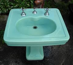 Kohler Bathroom Sink Colors - kohler spring green pedestal sink