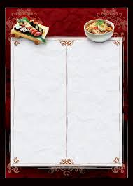 food menu template birthday drawing fast food menu template