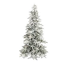 raz 7 5 pre lit flocked slim tree with clear g40 lights
