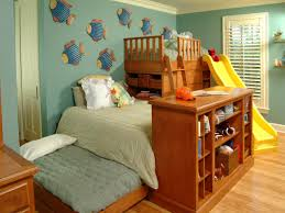kids rooms storage solutions hgtv triple play three beds the space one