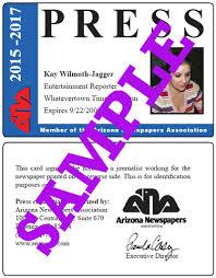 press cards arizona newspapers association