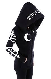 gothic symbols witchcraft oversized hood gothic alternative goth