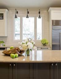 Gray Kitchen Island Gray Kitchen Island With Gold Countertops Transitional Home