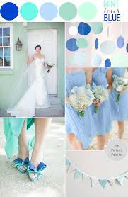 color story mint loves blue the perfect palette