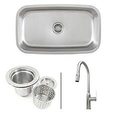Kitchen Sink Faucet Combo 30 Inch Stainless Steel Single Bowl Kitchen Sink And Lead Free