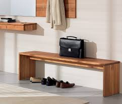 Shoe Bench Uk Hall Bench With Optional Shoe Rack Team 7 From Wharfside