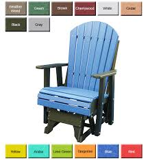 outdoor poly furniture luxury poly paglcr adirondack glider chair outdoorpolyfurniture com