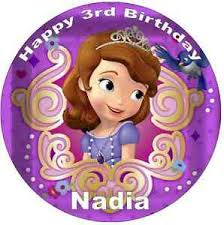 sofia the cake topper sofia the disney personalised cake topper edible wafer paper
