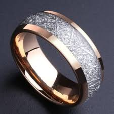 meteorite mens wedding band alibaba aliexpress 8mm domed gold color tungsten ring with