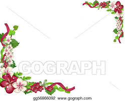 wedding flowers drawing stock illustration wedding flowers corner and border clipart