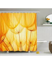 Yellow Flower Shower Curtain Dandelion Shower Curtain Interior Design