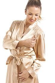 robe de chambre en satin pour femme camille ensemble chemise de nuit et robe de chambre de luxe pour
