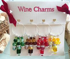 tassel wine glass charms unique wine charms by lasmascreations
