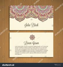 Business Card Invitation Business Card Invitation Vector Background Vintage Stock Vector