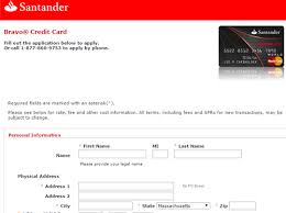 santander bank credit cards personal how to apply bank online