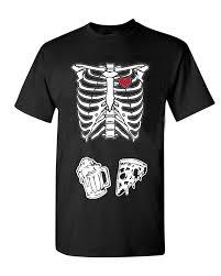 amazon com mens skeleton maternity pizza u0026 beer black t shirt