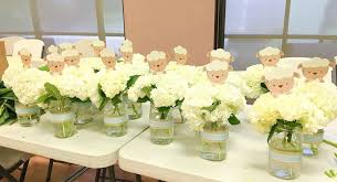 baby shower flower centerpieces white floral centerpieces for baby shower marcys mess
