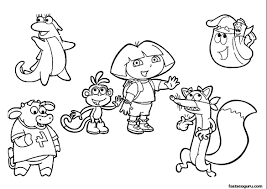 best free coloring pages dora pictures best printable coloring