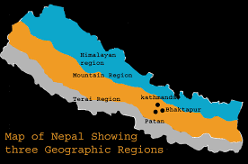 Map Of Nepal And Surrounding Countries by Introduction