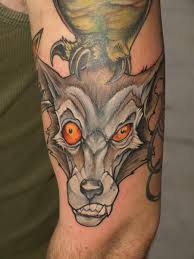 wolf with different eyes tattoo wolf tattoos