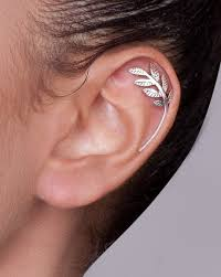 earrings for cartilage shirli s jewelry helix earrings silver leaves cartilage earring