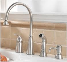 kitchen faucets 4 pfister avalon 1 handle 4 high arc kitchen faucet w side