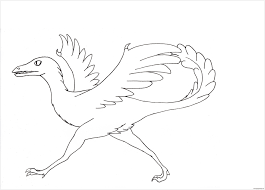 archaeopteryx dinosaur 1 coloring page free coloring pages online