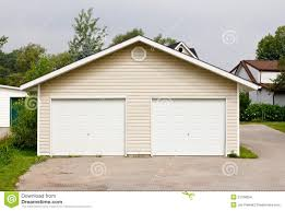 freestanding double garage stock images image 21188654