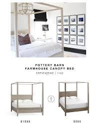 Bed Frames Farmhouse Bed Pottery by Pottery Barn Farmhouse Canopy Bed Copycatchic