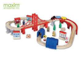 buy american maxim brand wooden track toys 60 2 year