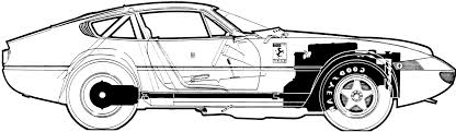 car ferrari drawing car ferrari 375gtb4 daytona 1972 the photo thumbnail image of