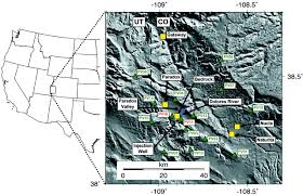 Gateway Colorado Map Deep Injection And Closely Monitored Induced Seismicity At Paradox