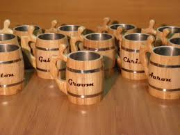 Personalized Wooden Gifts 9 Personalized Wooden Beer Mug 0 8 L 27oz Natural Wood