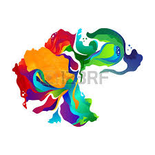 vector paint abstract background colorful splash watercolor