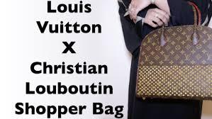 louis vuitton x christian louboutin shopper bag شنطة لويس فيتون