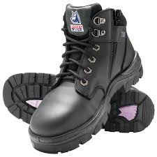 womens boots townsville steel blue parkes zip work boot with steel toe cap