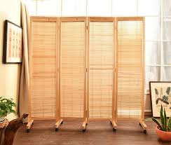 japanese style home decor oriental japanese style 4 panel wood folding screen with wheels room