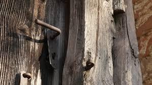 ornamental iron knob century wooden door church
