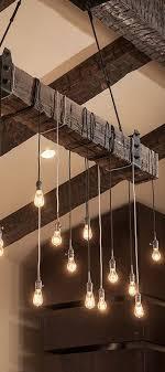 Outdoor Suspended Lighting The Ahab 6 Industrial Rope Light Barn Beam Pendant Wood