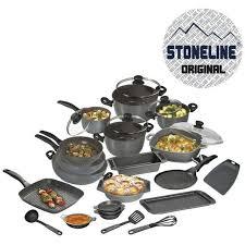 batterie de cuisine en stoneline stoneline set batterie de 26 pieces en achat vente
