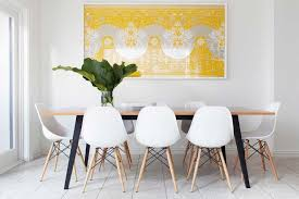 White Dining Table And Coloured Chairs Wooden Dining Chairs Sydney Dining Room Contemporary With Neutral