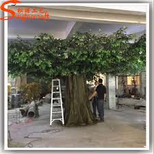 realistic style of artificial tree branches and leaves outdoor