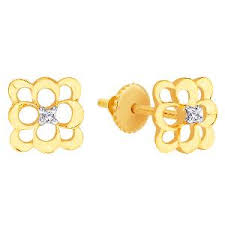 d damas gold earrings d damas gold diamond earrings gold earrings homeshop18